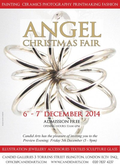 Angel christmas fair flyer