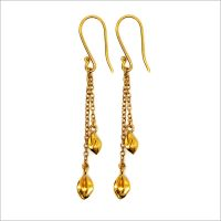 Hozuki dangle earrings